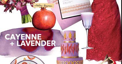 Cayenne + Lavender Wedding Color Scheme