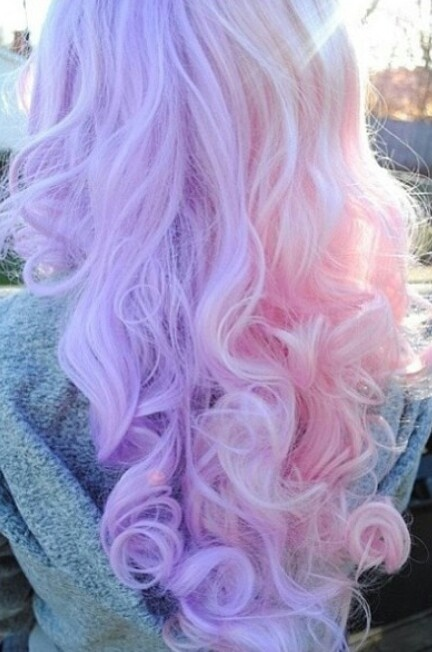 Cotton candy colored hair | Hairstyles | Pinterest