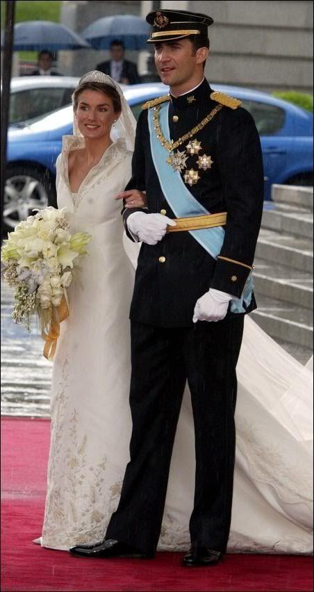 Felipe, Prince of Asturias & Letizia Ortiz married on May 22nd, 2004