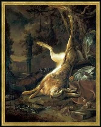 Jan Weenix (1640-1719), Still Life with a Dead Hare, 1682, oil on canvas, Staatliche Museum, Karlsruhe, Germany