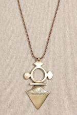 Vanessa Mooney Brass Spear Necklace  #uostyle