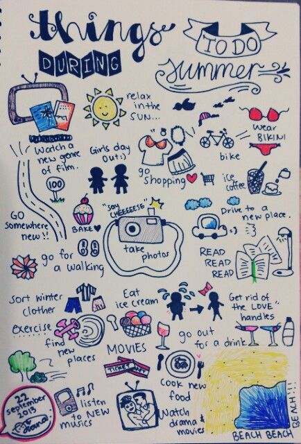 Things to do during summer :) I was inspired by the pin 'things to do all summer:' and decided to come up with my own version! Hopefully I can do all of these things during 2013 summmer :) Check where I got the idea from: http://24.media.tumblr.com/d13dbdf30f657590f68b378cf5a141f9/tumblr_moltl2eyXz1qbdeqqo1_500.png
