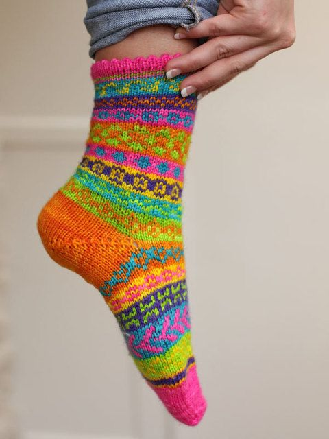 Heritage Fiber Publications - X003 - Mix or Match Fair Isle Socks