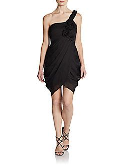 BCBGMAXAZRIA - Pleated One-Strap Dress Bridesmaid option?