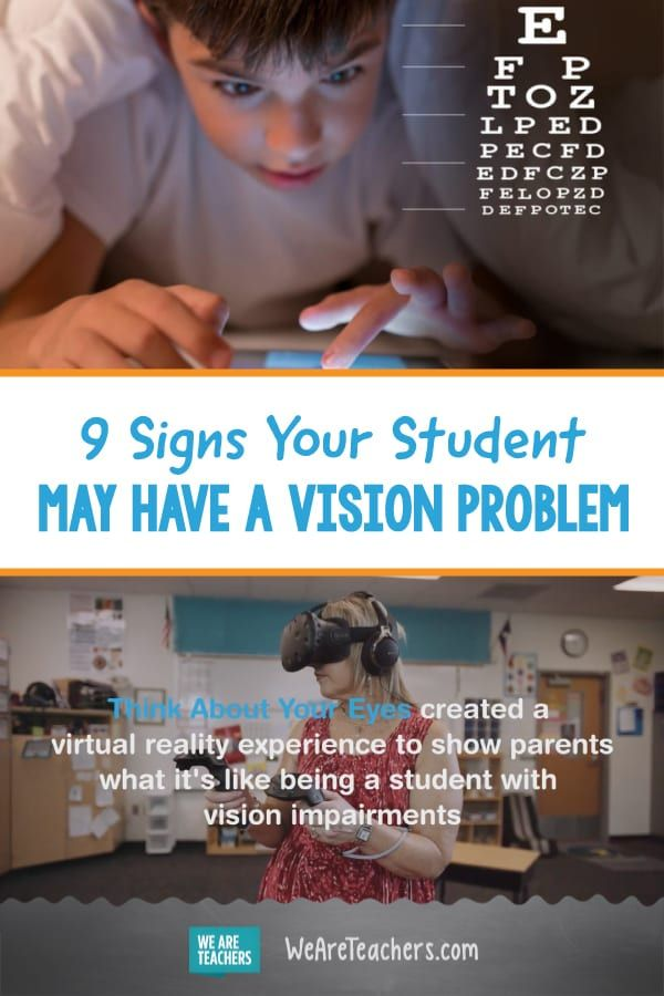 9 Signs Your Student May Have A Vision Problem With Images
