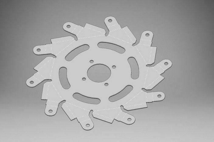 mecanum Wheel - STEP / IGES - 3D CAD model - GrabCAD