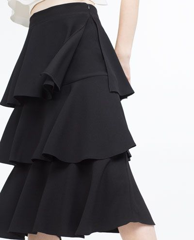 Image 6 of LONG SKIRT WITH FRILLS from Zara