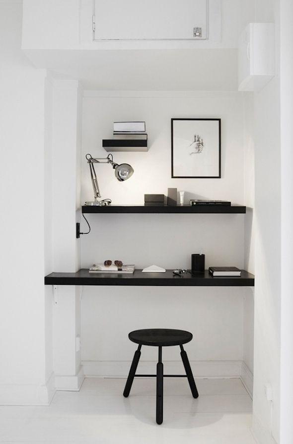 Klein kantoor thuis | Interieur design by nicole & fleur