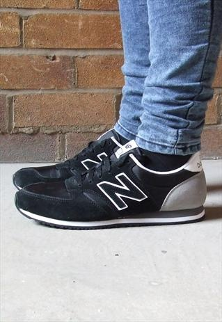 new balance 420 retro black grey suede trainers. Black Bedroom Furniture Sets. Home Design Ideas