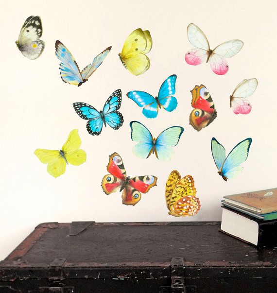 Butterflies Wall Decals Watercolor  Butterflies  by chocovenyl