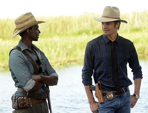 Lets Talk Justified. Read about Justified and about the season 5 premiere of A Murder of Crowes.