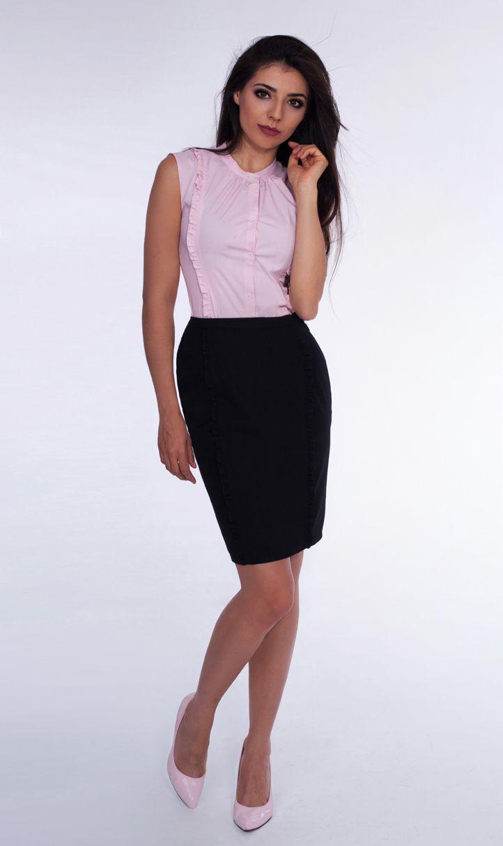 Ta wyjątkowa koszula w najmodniejszym w tym sezonie kolorze stanowić będzie dopełnienie garderoby każdej bizneswoman.