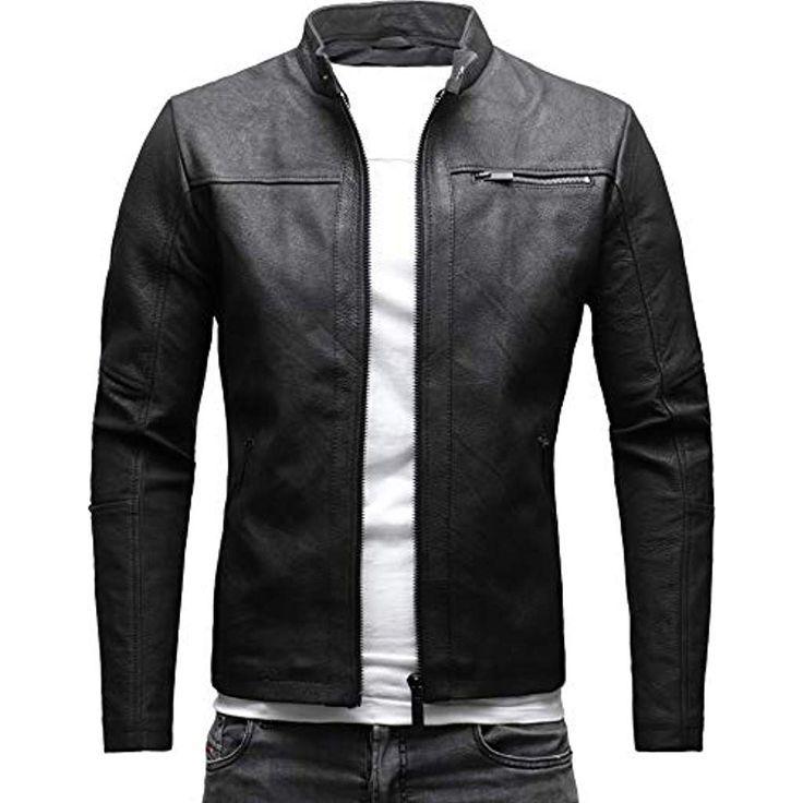CRONE Epic Herren Lederjacke Cleane Leichte Basic Jacke aus weichem Schafs Leder