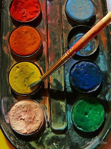 Just looking at a palette of paints is inspiration.