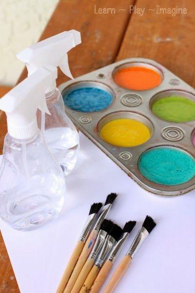 Erupting Flour Paint Recipe ~ Learn Play Imagine