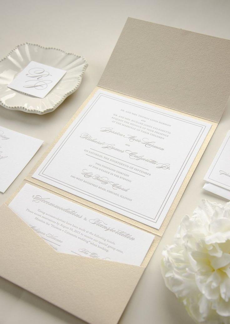 Elegant Timeless Letterpress Wedding Invitation 31
