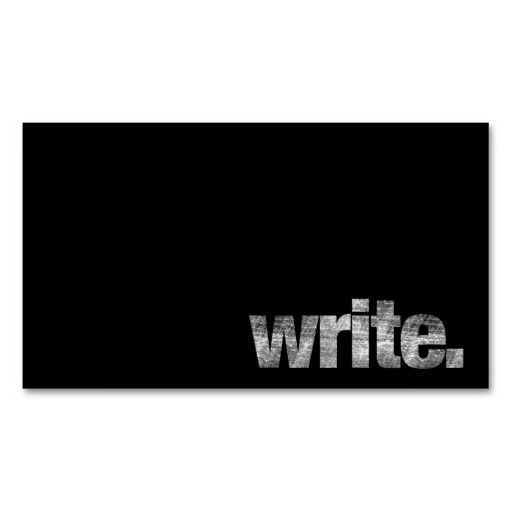 308 best freelancer business cards images on pinterest business write writer freelance writer author business card wajeb Images