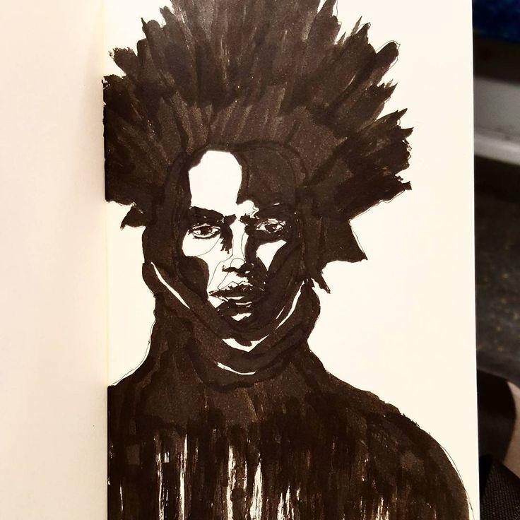 Inktober no.16 ...and that sketchbook is finished. • • • • • #sketch #sketchbook #draw #pen #ink #instaart #paper #painting #doodle #inktober #artsy #instaartist #artoftheday #man #moleskine #inked #guy #inktober2016 #moleskineart #gallery #graphic #men #creative #masterpiece #portraits #sketching #portraiture