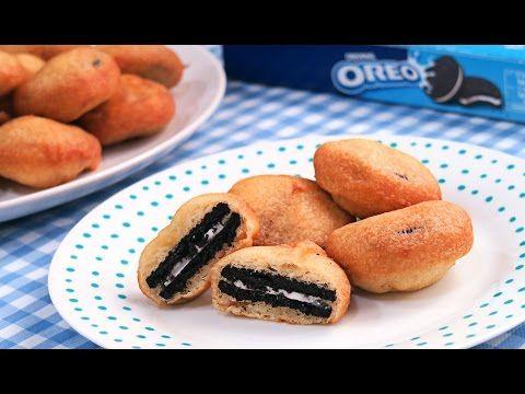 Buñuelos Rellenos de Oreo | Galletas Oreo Fritas | Deep Fried Oreos - YouTube