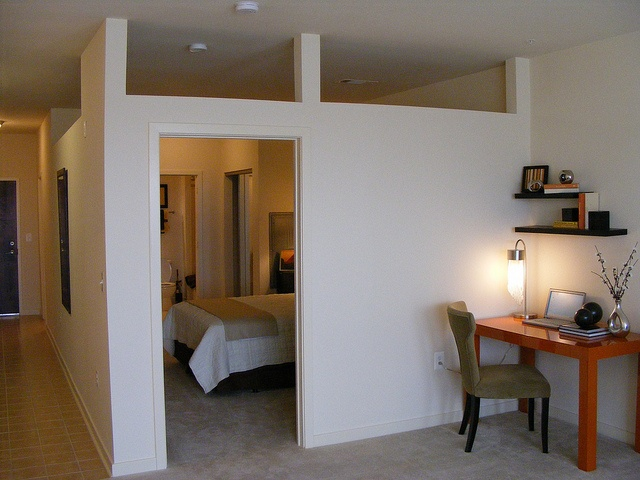 Loft apartment metropointe at wheaton by dan reed via flickr a bedroom enclosed by - Partial room divider ...