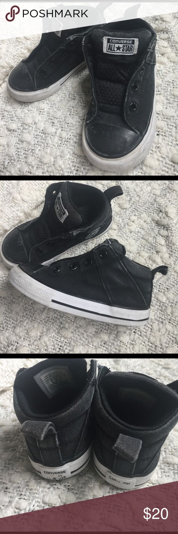 No time to lace converse slip ons! Size 7 toddler Good used Condition! Signs of wear but lots of life left!! So cute! Converse Shoes Sneakers