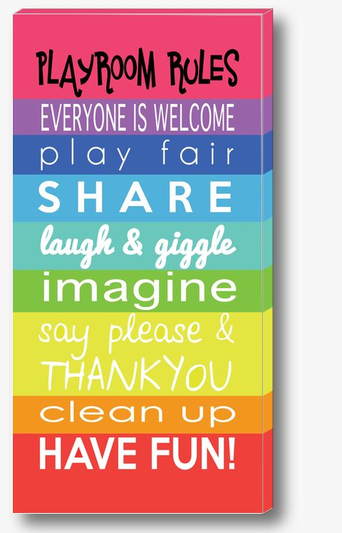 RAINBOW PLAYROOM RULES Canvas Print