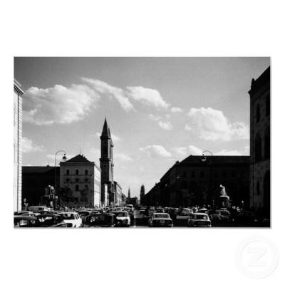 Germany Munich ludwigstraße University ludwing's church 1970s photography - Download this photo in HD $30 - https://gumroad.com/l/nYAT