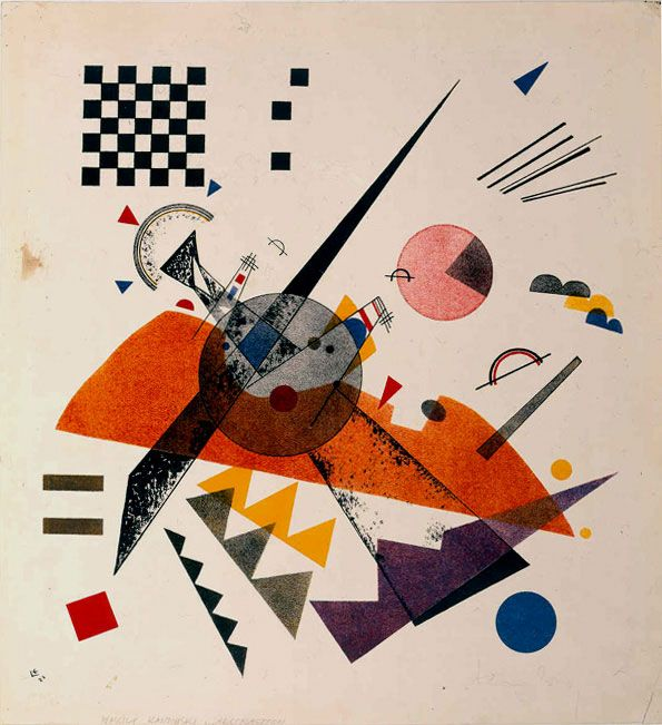 Vasily Kandinsky, Orange  Russian, Bauhaus