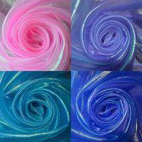 Лазерная блестящие марли ткань этап свадьбы декор материал красочные нейлон марли ткани voile розовый фиолетовый королевский синий