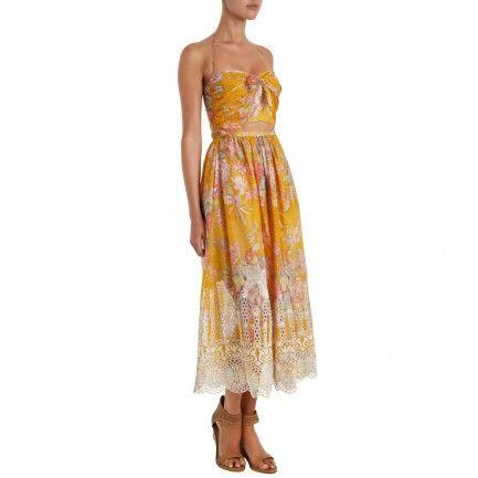 Confetti Scallop Tie Dress