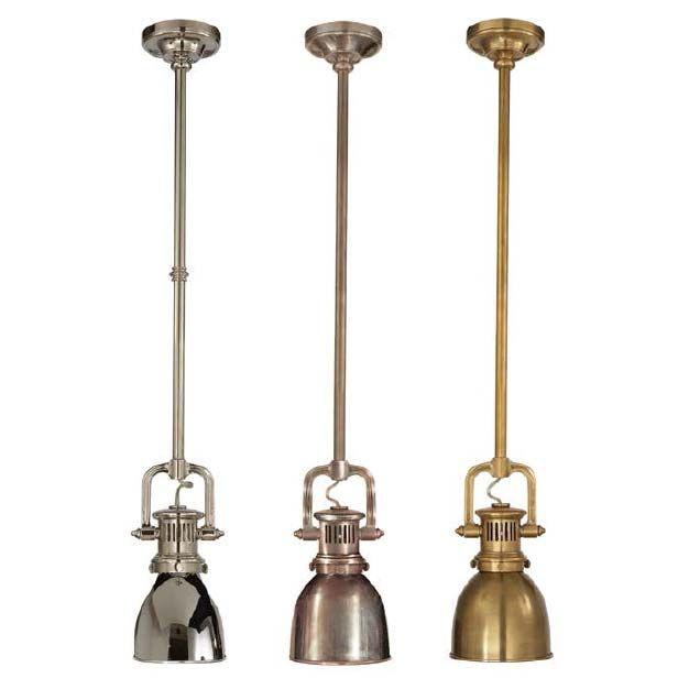 YOKE MINI n pendente n níquel polido A123054 n Em metal antigo com haste fixa.