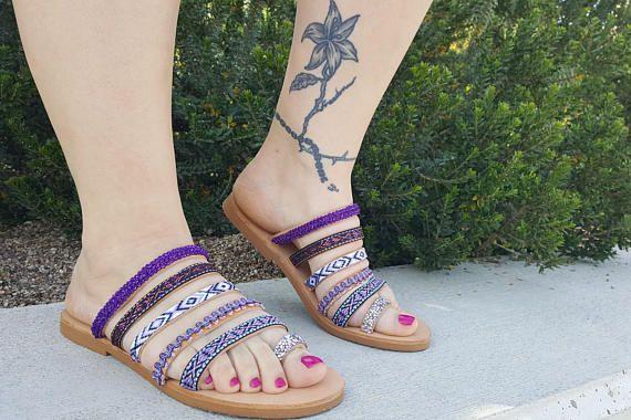 Boho Sandals Greek Sandals Leather Sandals