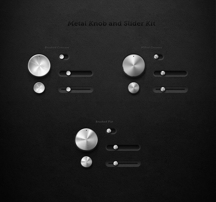 Metal Knob and Slider UI Mini Kit - The Portfolio of Alden Haley