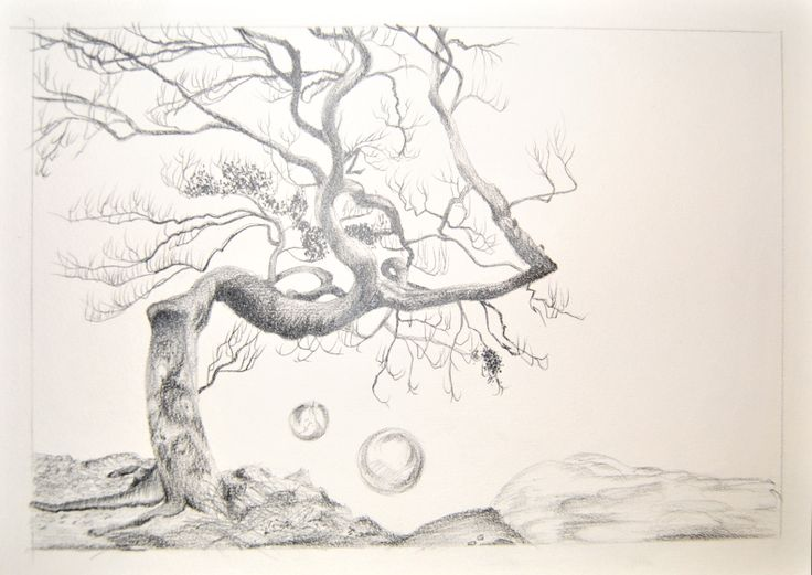 Un arbre magique, une illustration pour l'un de mes contes (non finis!)