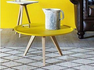 Tavolino rotondo in legno SERVOLONE - Miniforms