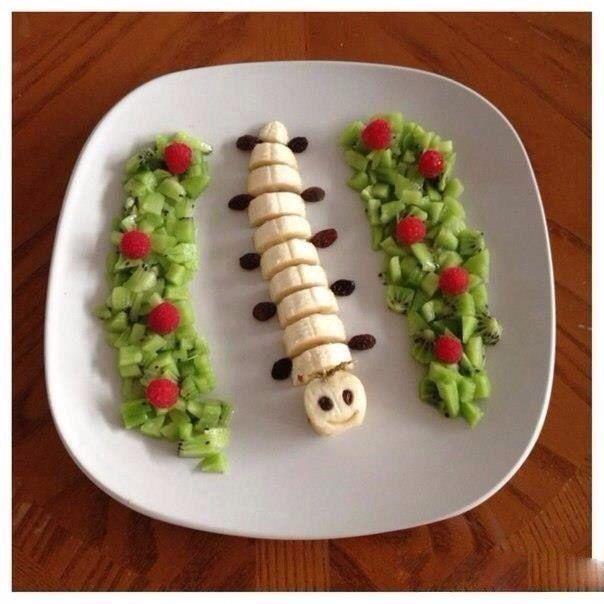 Гусеница из фруктов# art