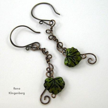 Tutorial: Leaf and Vine pendientes de alambre.