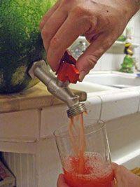 Watermelon Keg (watermelon juice, rum and lime)