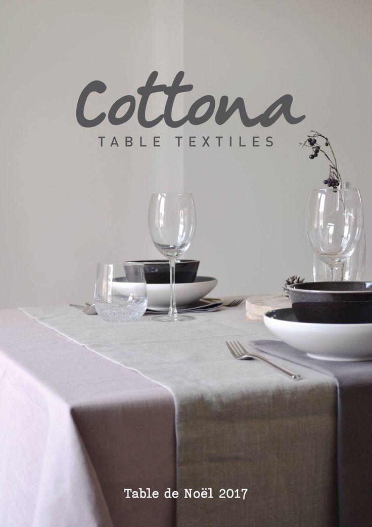 Cottona table textiles | Table de Noël 2017 | Ce magazine vous donne de l'inspiration pour votre table de Noël | cottona.com