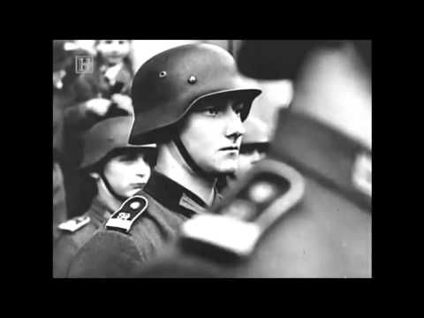 Horst Wessel Lied Wehrmacht Marching to Anthem of Nazi Germany. My nana was British so yeah. (I am Certainly not a nazi.I just like the rythem:))
