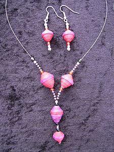 bijoux perles papier