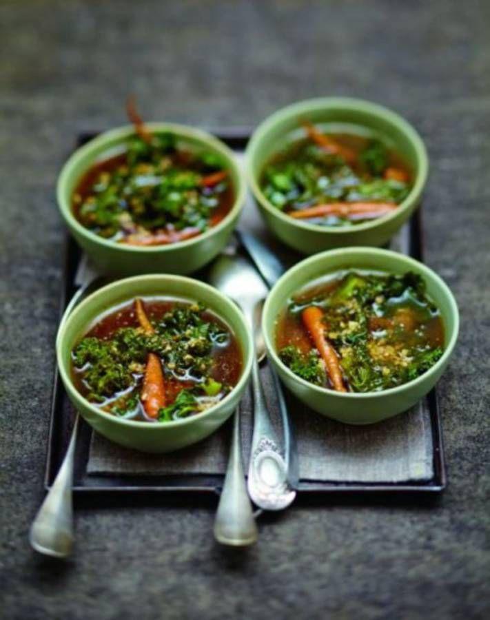 Soupe de légumes : Soupe à l'orge et au kale