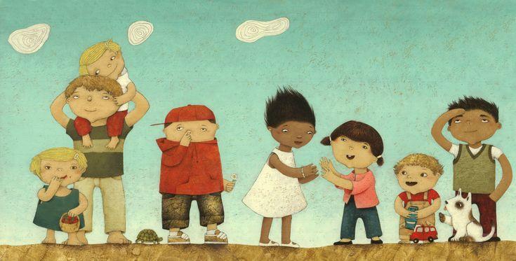 gebete für kinder / children's book / bahai-verlag 2009 / Bologna Illustrator's Exhibition 2010