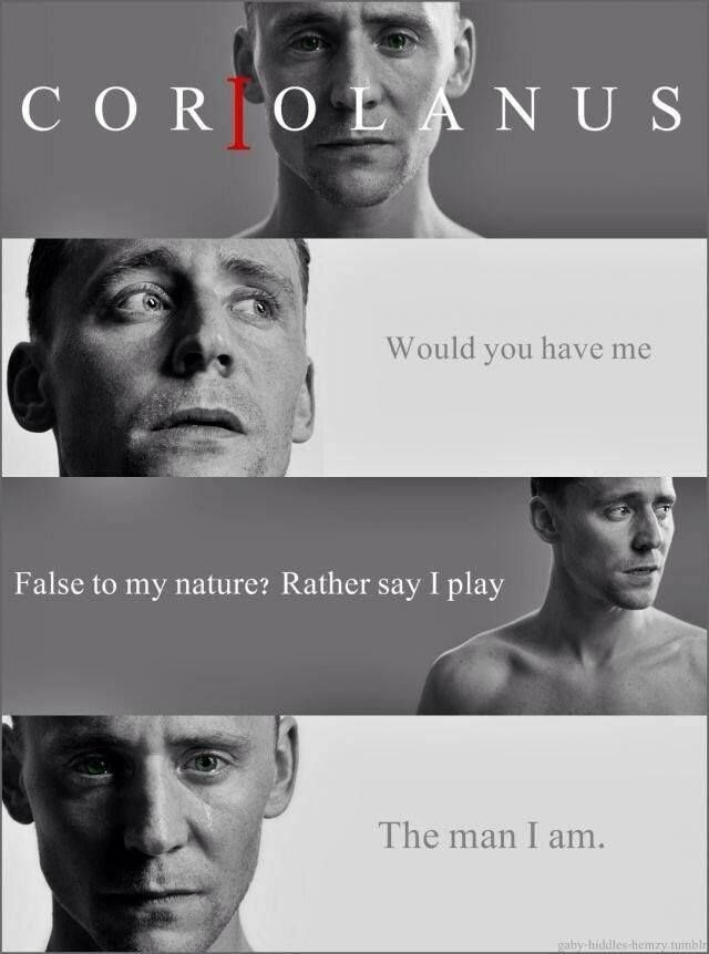 meet tom hiddleston after coriolanus setting