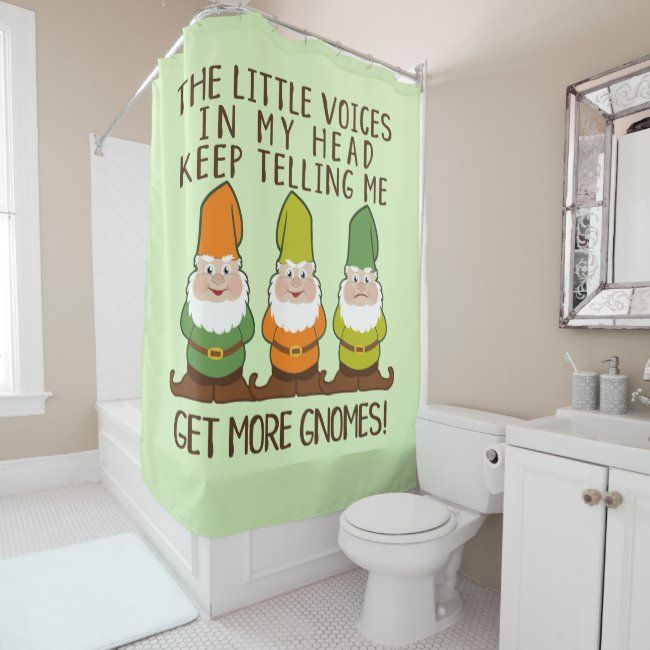 The Littles Voices Get More Gnomes Shower Curtain Zazzle Com In
