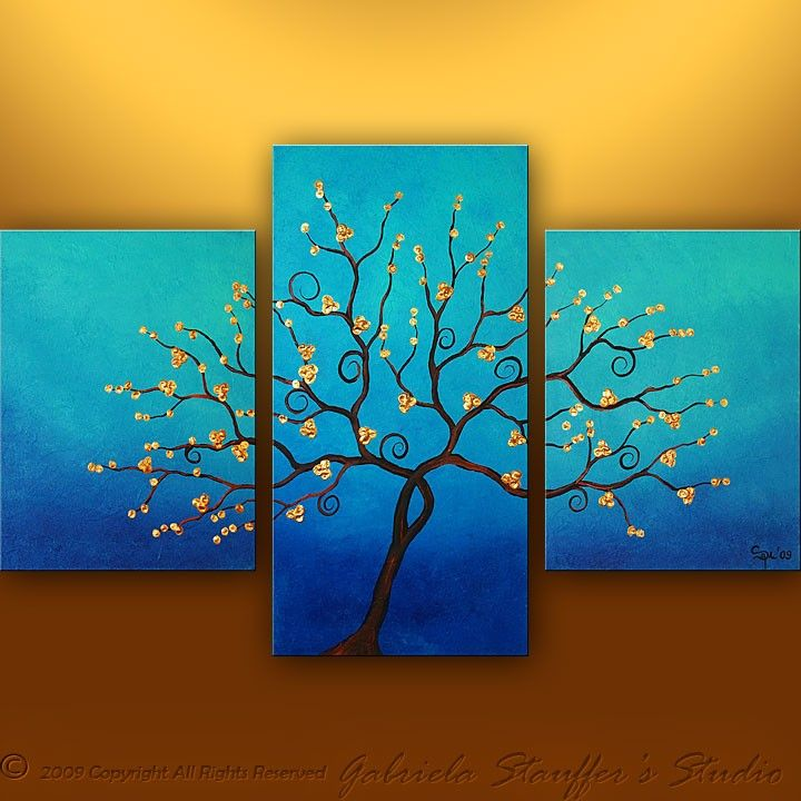 using different size canvas to create one picture simple canvas painting ideas