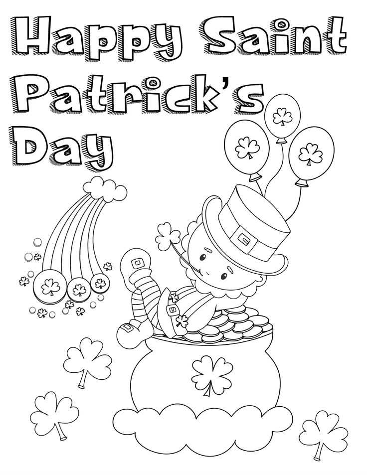 Free Printable St. Patrick's Day Coloring Pages 4 Designs