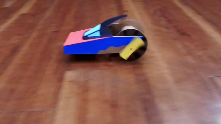 Rubber band powered super car