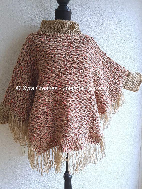 PATR1095 Xyra Crochet-pattern Poncho with por XyraCreaties