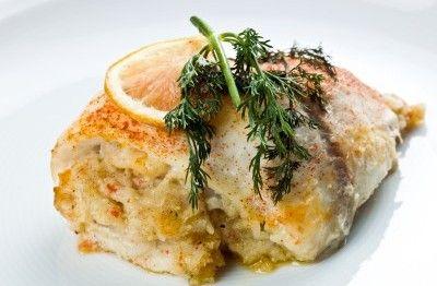 Flounder Stuffed with Garlic Shrimp